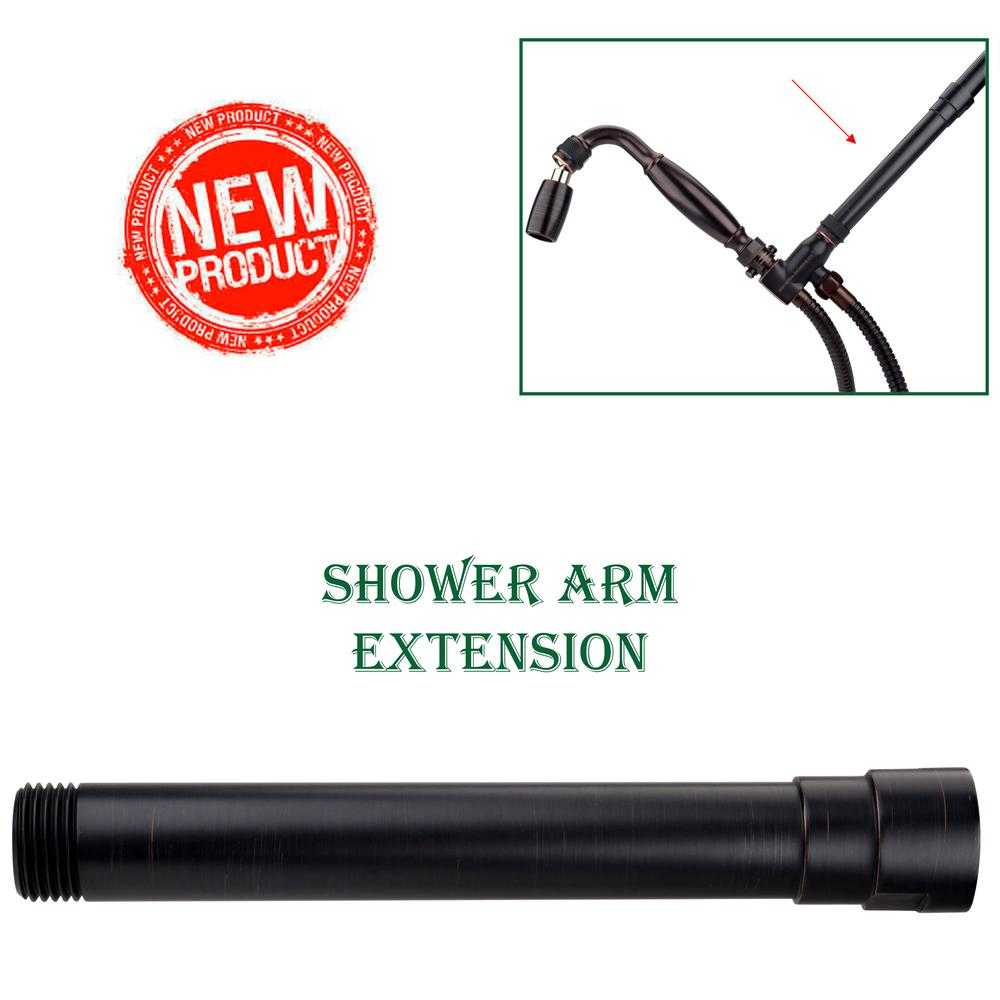 High Sierra Showerheads Exclusive 6 In Solid Metal Shower Arm Extension In Oil Rubbed Bronze Shower Arm Extension Shower Arm Shower Heads