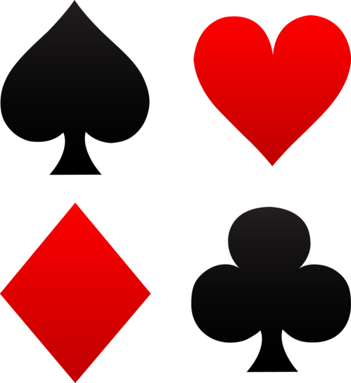 Super Free Clip Art Of Red And Black Playing Card Suits Spades Beutiful Home Inspiration Aditmahrainfo