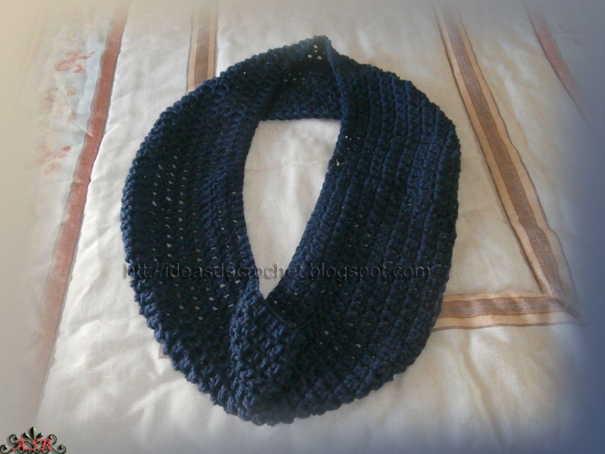 Bufanda cuello para hombre en color azul (abierta) | Invierno ...