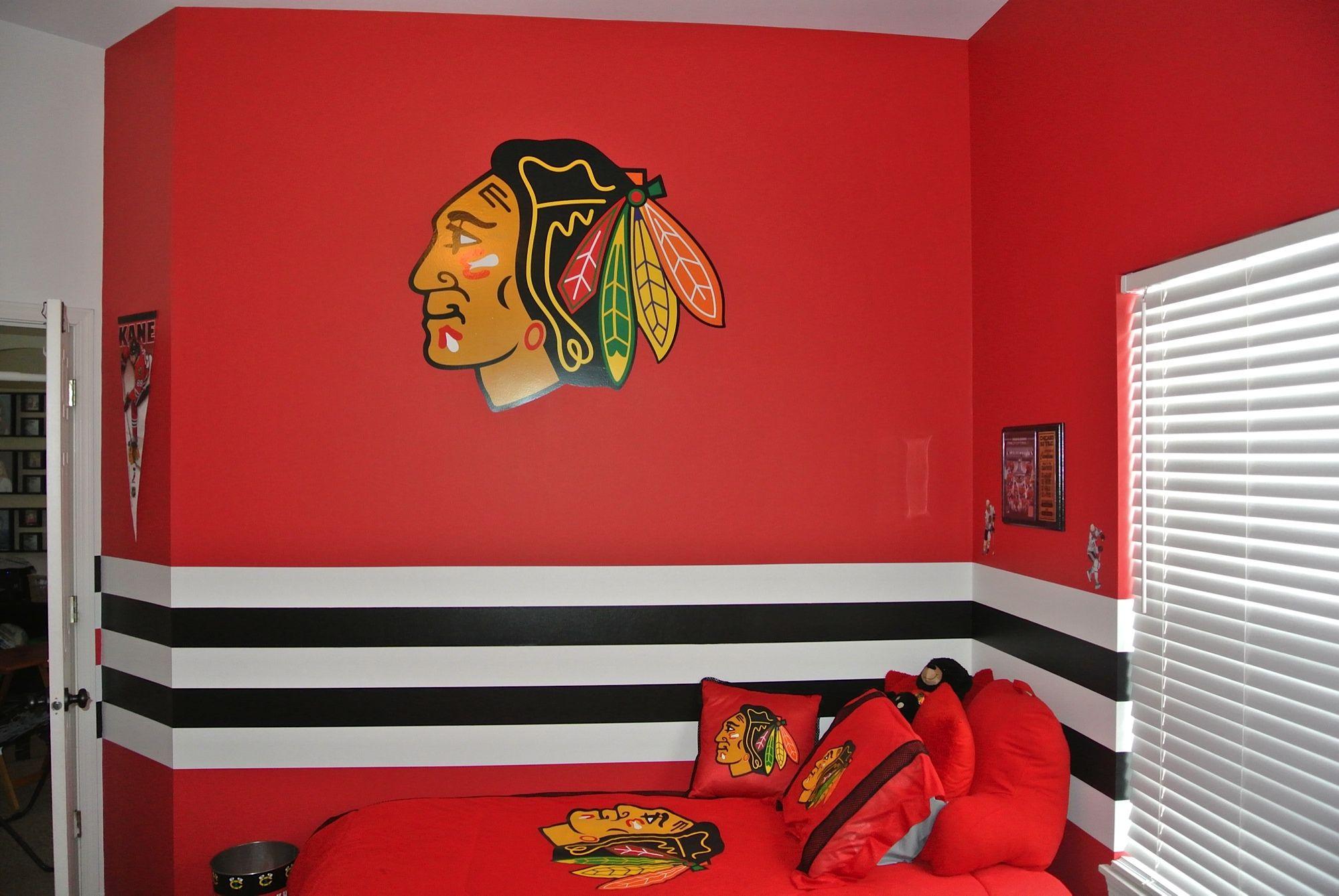 Hockey sports room painting ideas Palatine Illinois | KidRoom ...