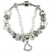 S925 Silver Charm beads Fit European Pandora Style Jewelry Bracelets & Bangles , fashion gift