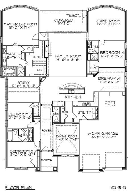 Trendmaker homes f752 new home plan listing in houston for Houston house plans
