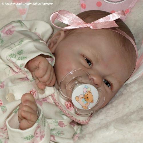 Peaches And Cream Christmas Reborn Baby Starr