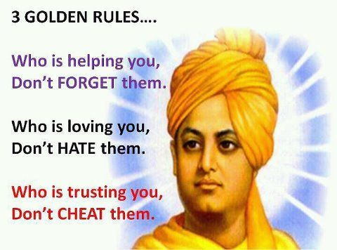 3 Golden Rules For Life By Swami Vivekananda Thought Of The Day