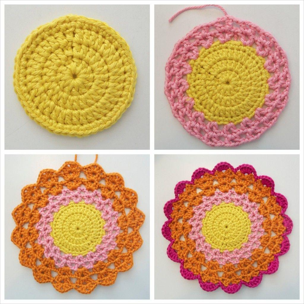 Mandala, step-by-step tutorial by Lizzie Bella | Crochet, knitting ...