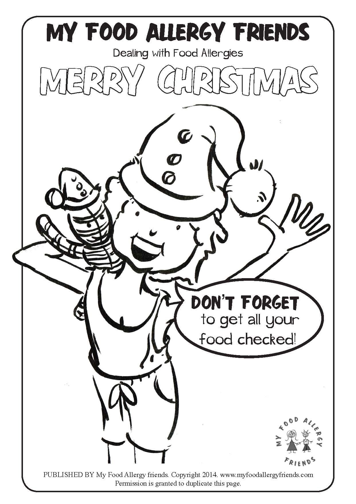 Free Colouring Pages From My Food Allergy Friends