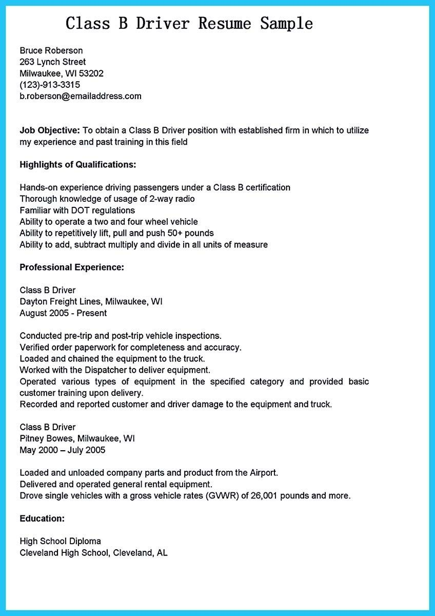 Truck Driver Resume No Experience Fresh Resume For Driving Job Examples Jobs Cv Stock S Hd