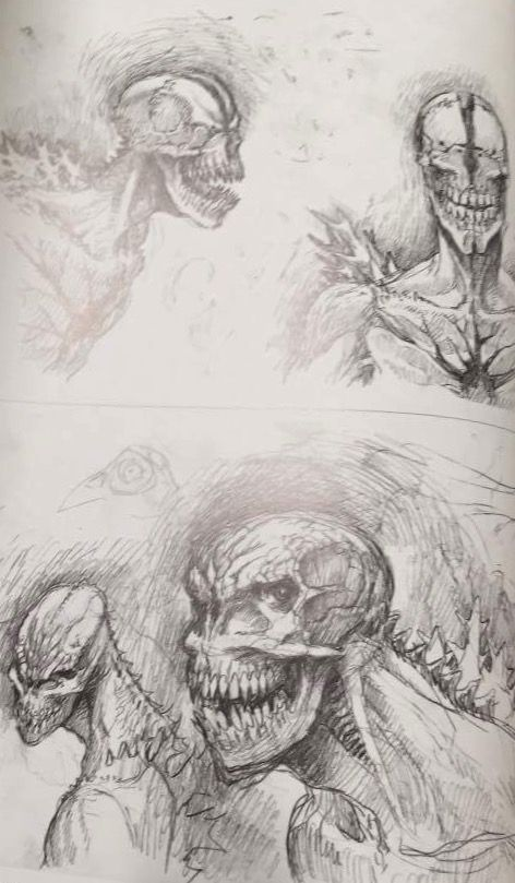 Shin Godzilla 2016 Concept Art In 2019 Creature Design