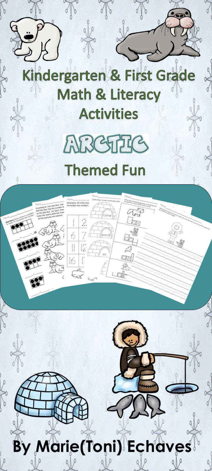 Math and Literacy Activities for Kindergarten & First Grade Arctic ...