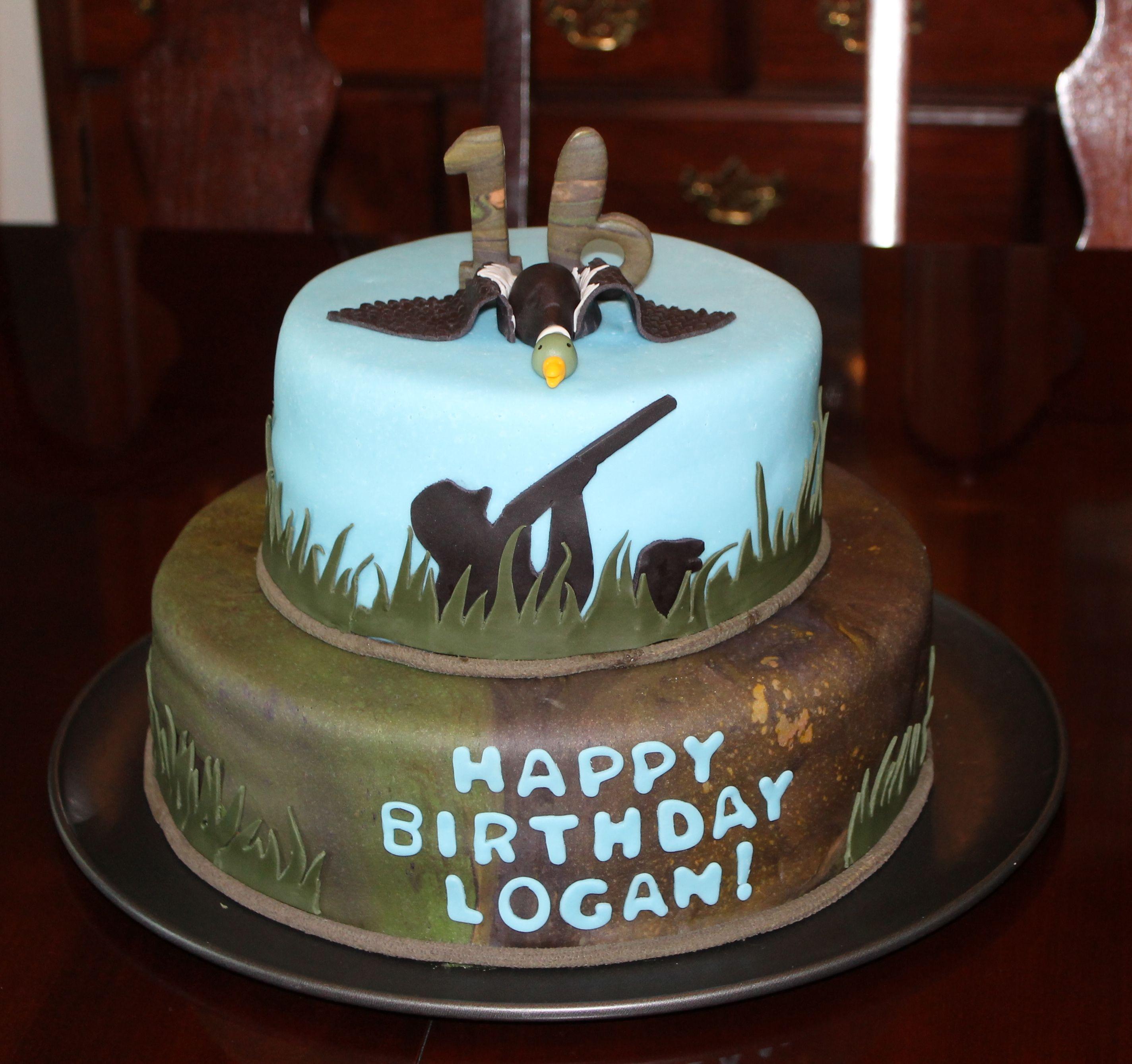 Duck Hunter Cake Hunting Birthday Cakes Moose Cake Duck Cake