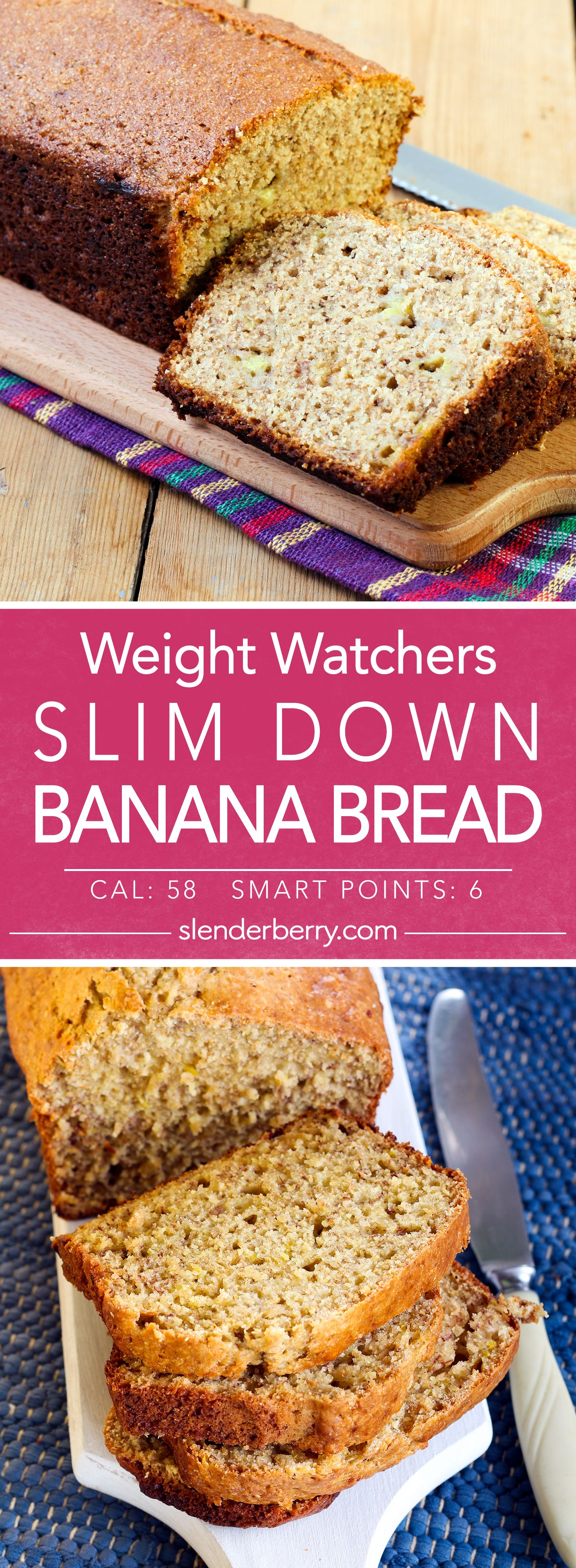 Slim Down Banana Bread #bananabreadrecipe
