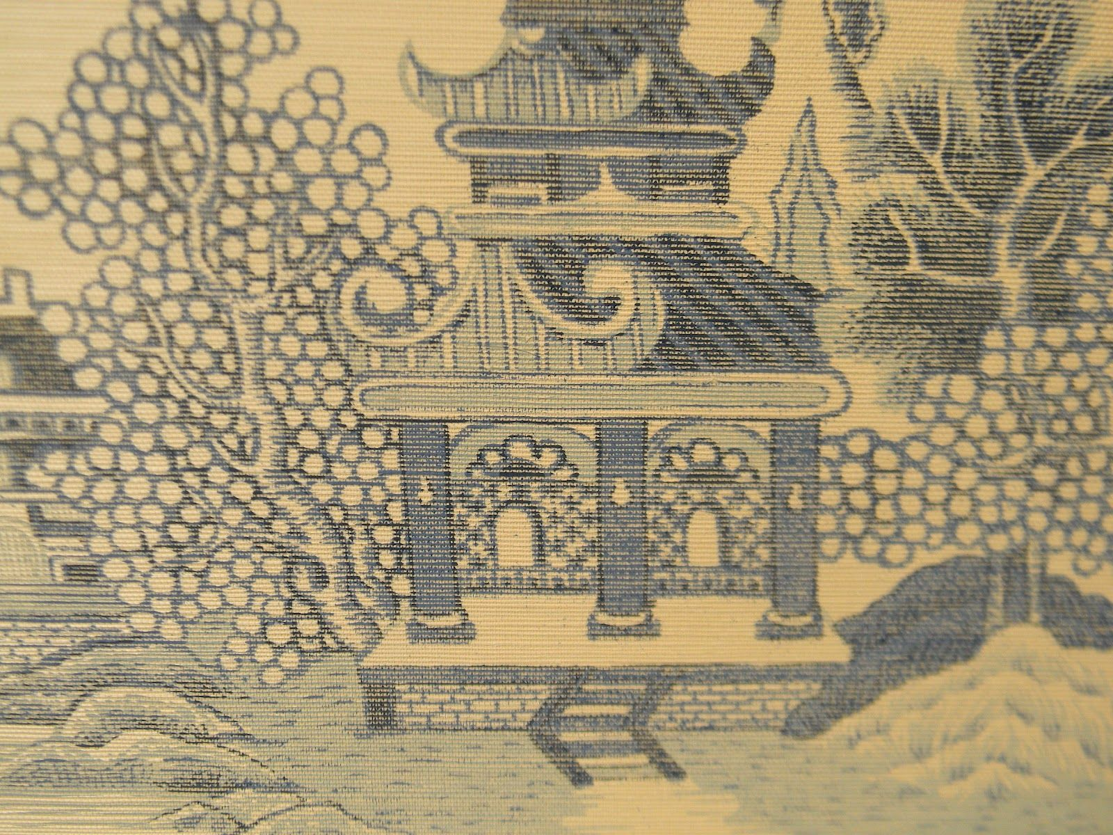 Blue Willow Chinoiserie Walls Oriental WallpaperWillow PatternWallpaper