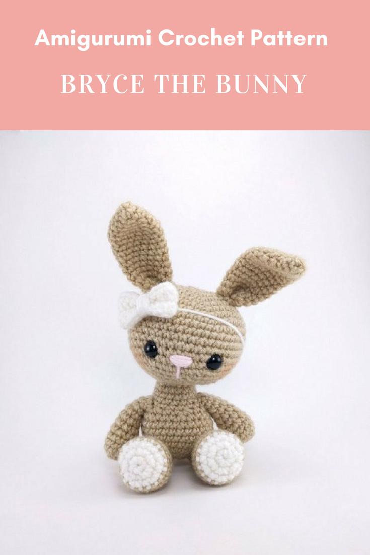 PATTERN: Bryce the Bunny - Crochet bunny pattern - amigurumi rabbit ...