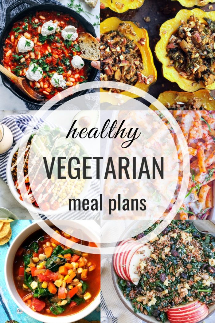 Healthy Vegetarian Meal Plan 10.07.18 images
