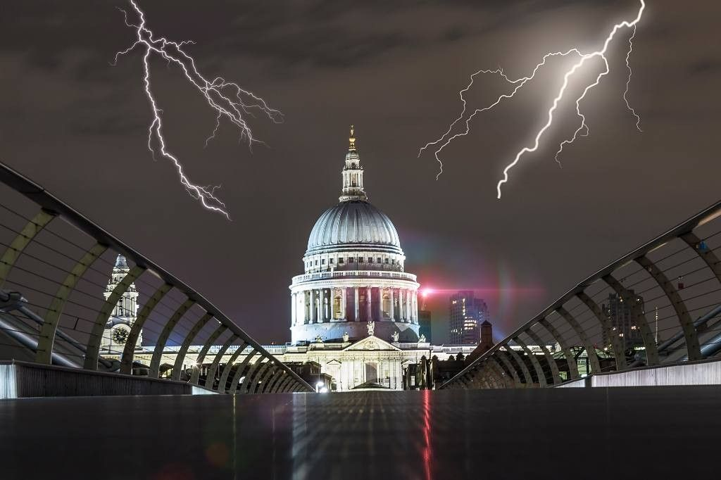 lighting at st paul s cathedral in london uk my creative