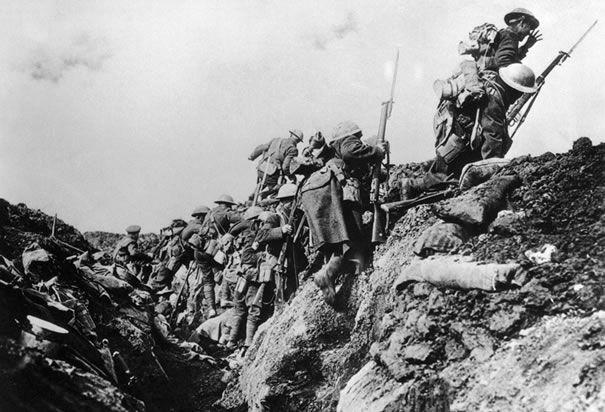 trench warfare world war 1. German Front line.
