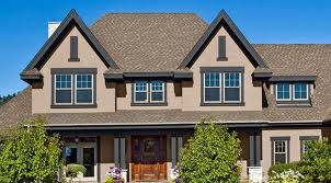Exterior Paint Colors Dark Brown brown trim on beige stucco exterior | home: exterior | pinterest