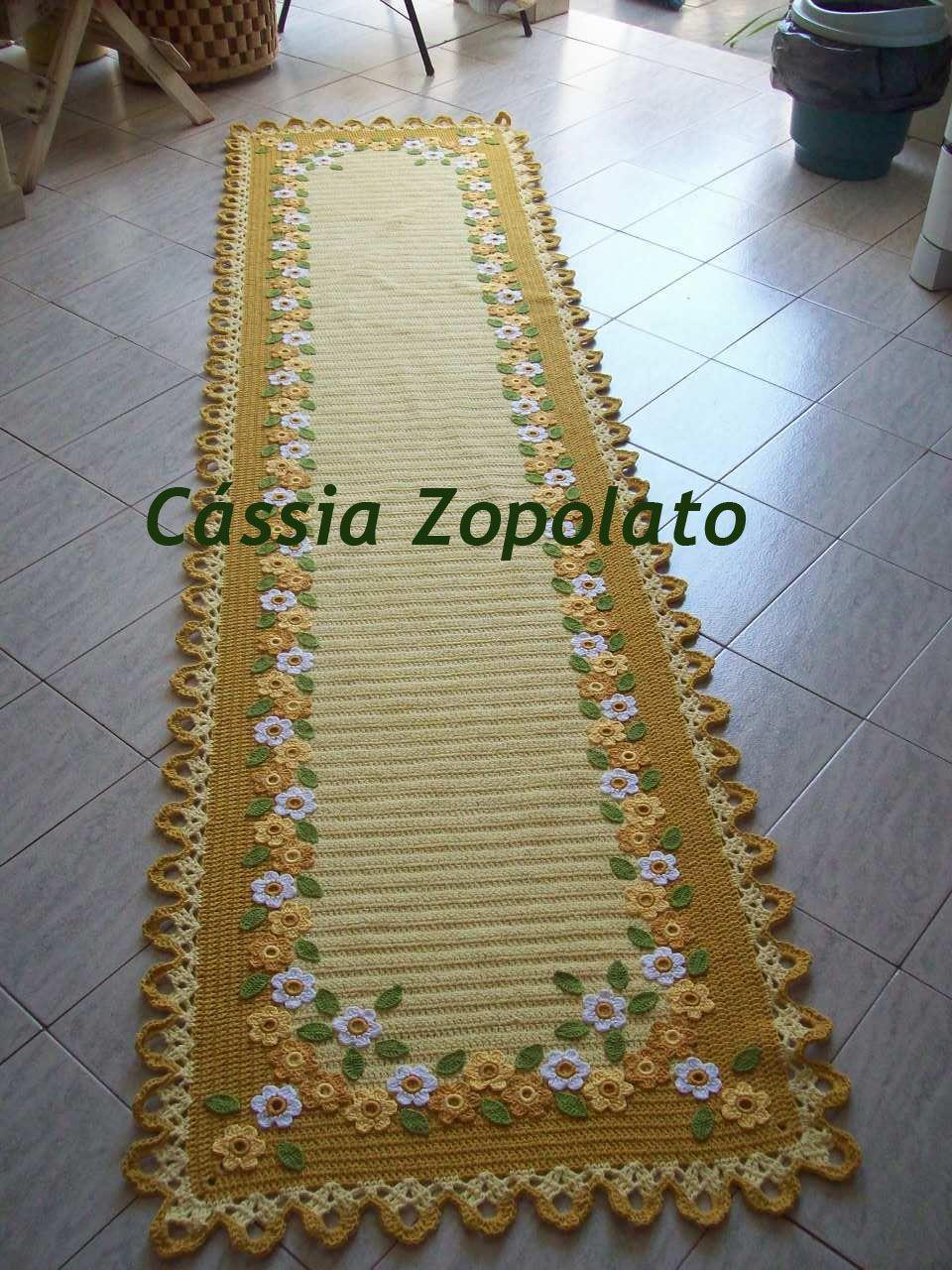 Passadeira primavera 2 70 x 0 72 cm tapetes de croche for Tapetes de crochet