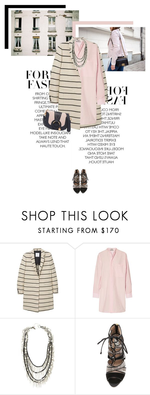 """""""Think Pink"""" by veronicamastalli ❤ liked on Polyvore featuring MANGO, Acne Studios, Goti, By Malene Birger and See by Chloé"""