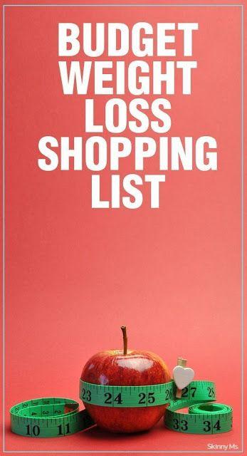 Budget Weight Loss Shopping List   PIN GOOD
