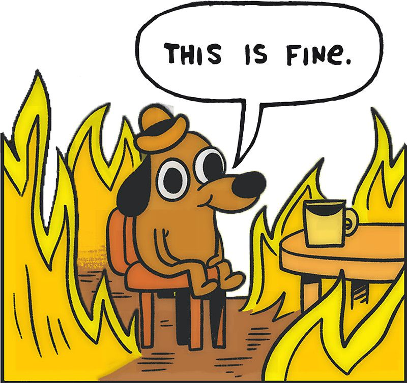 This is Fine (Speech Bubble) by olaffish (With images