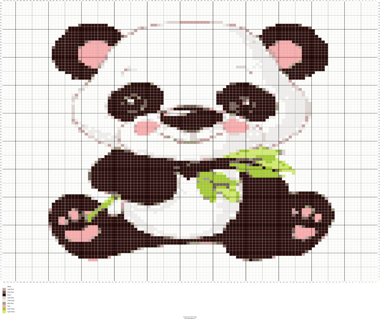 crochet colorwork baby panda graph panda crochet chart pattern pdf instant download digital files by fadesigncharts on etsy [ 1500 x 1259 Pixel ]