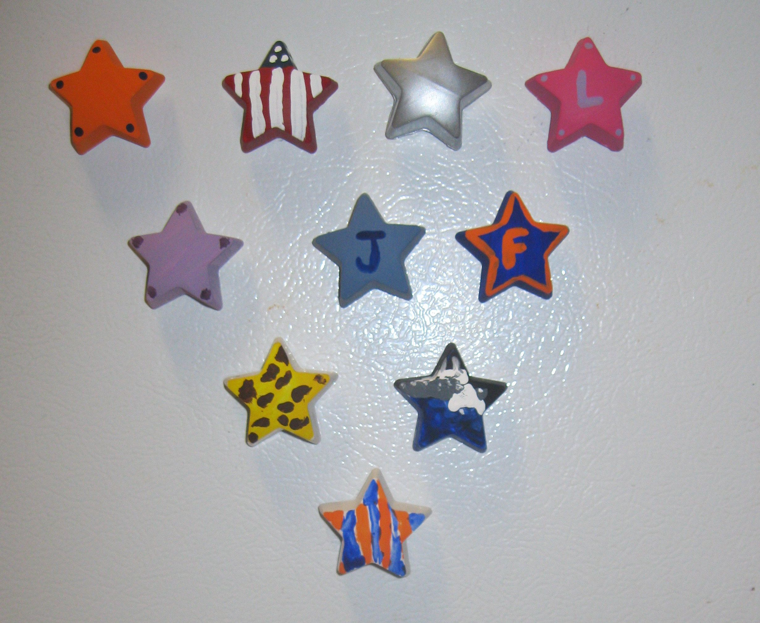 We Created These Magnets Using Leftover Plaster From