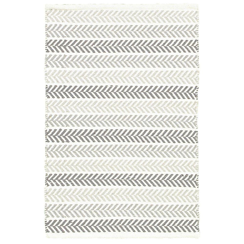 Altair Grey Rectangle Cotton Reversible Area Rug 5 X 7 9