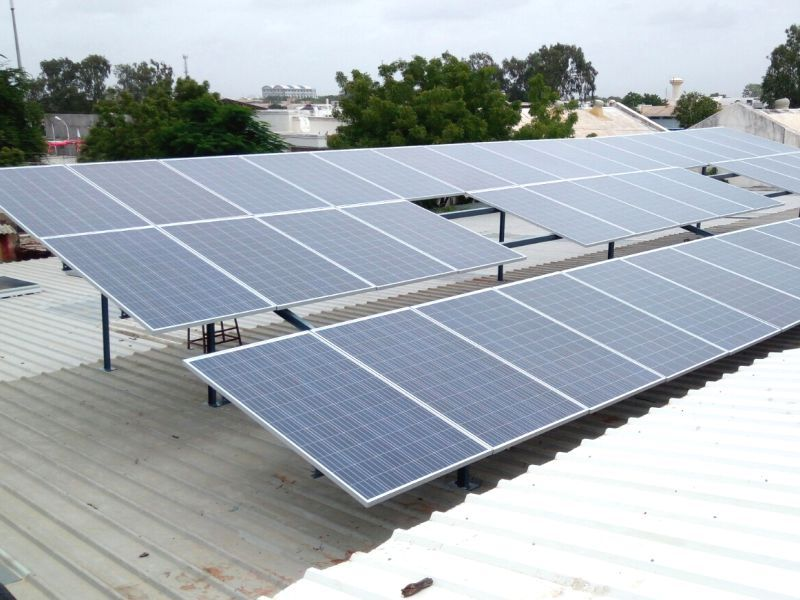 Lubi Solar Sucessfully Installed 25kwp Rooftop Grid Tied Solar Power Plant On Their Terrace At Aksar Food Machine Ll Solar Solar Power Plant Solar Power Panels