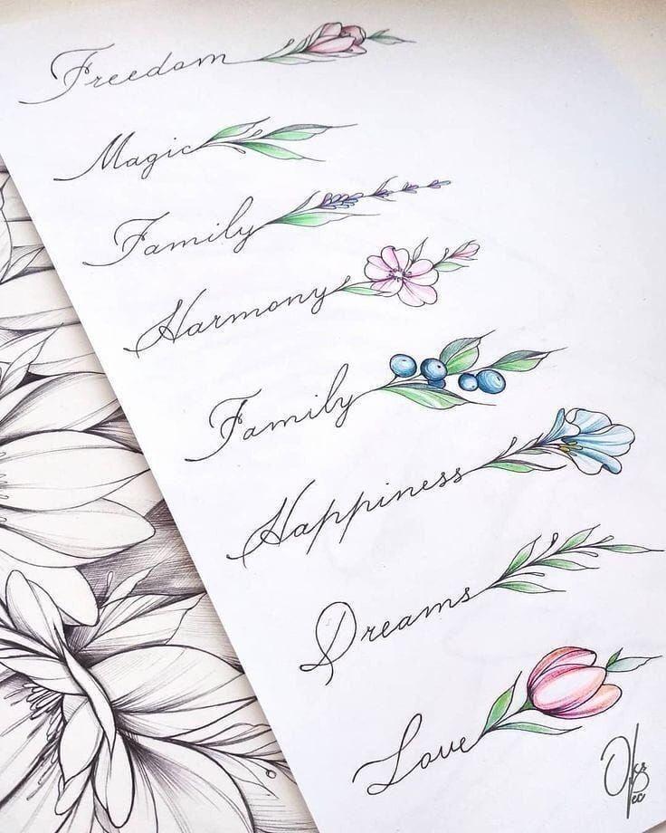 Photo of Conception de tatouage de script et de fleur
