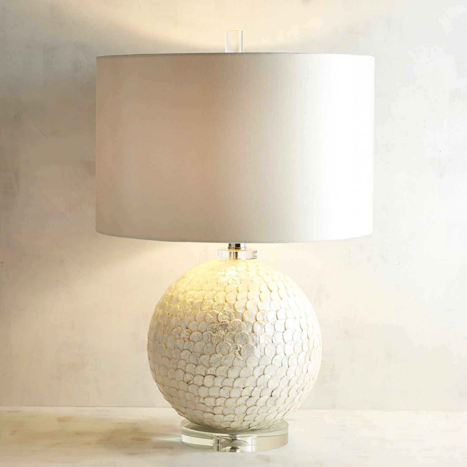 Scalloped mother of pearl table lamp products scalloped mother of pearl table lamp aloadofball Choice Image