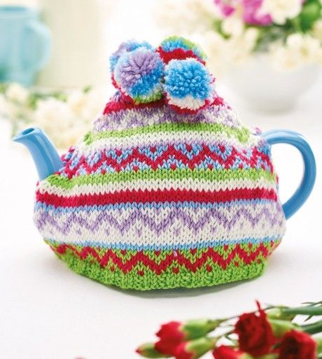 Treat yourself to a cuppa kept hot by our colourful teacosy ...
