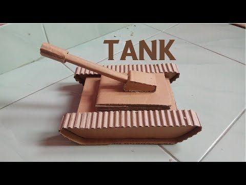 Cara Membuat Tank Dari Kardus Bekas Untuk Mainan Anak Anda Youtube Mainan Anak Kardus Mainan