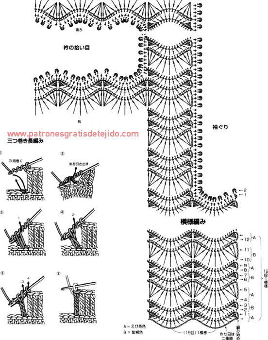 Top sin mangas tejido con ganchillo: moldes y patrones | Crochet y ...