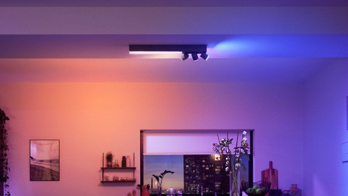 Philips Hue Centris Smart Ceiling Spotlight Lets You Set Just The Right Mood In 2020 Hue Philips Hue Lights Ceiling Spotlights