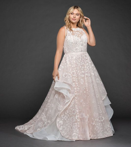 Style #6755 Reagan plus size wedding dress by Hayley Paige ...