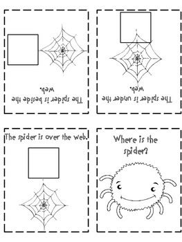 The Very Busy Spider 6 Spatial Concept Sequence Activities