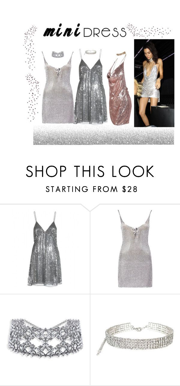 """""""Holiday Chic: Mini Dresses"""" by lilaclynn ❤ liked on Polyvore featuring Yves Saint Laurent and Boohoo"""