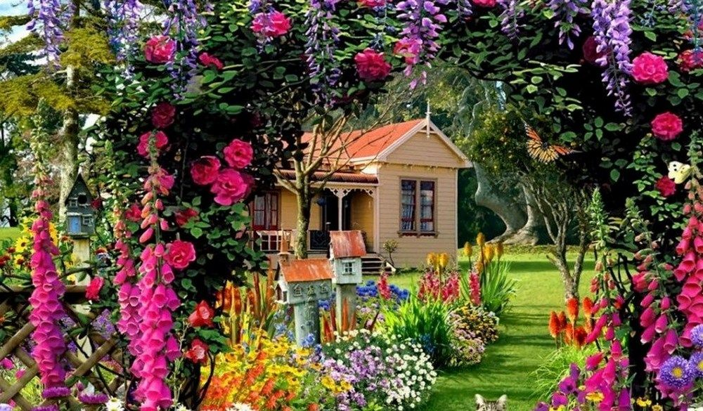 Kolorowy Ogrod Puzzle Puzzle Flower Flora Nature Kwiaty Inspiracje Bukiet Jigsaw Nature Garden Dream Garden Flora Flowers Flower Pictures