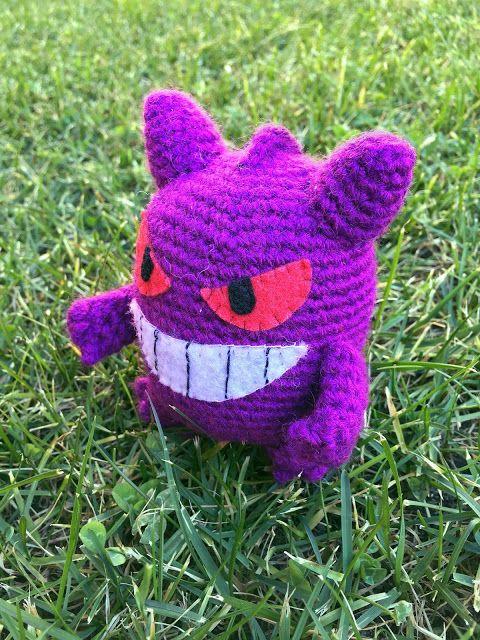 patron amigurumi bertorulez gengar pokemon   Crochet Pokemon ...