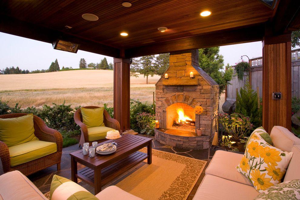 Surprising Outdoor Propane Fireplace Decorating Ideas