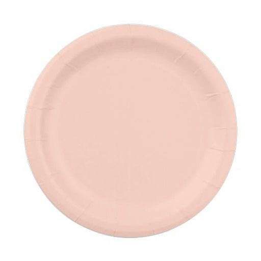 Shop Peach Solid Color Paper Plate created by SimplyColor.  sc 1 st  Pinterest & Peach Solid Color | CUSTOM PAPER PLATES Personalized For Parties ...
