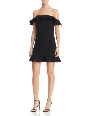 340abc798fe0 FRENCH CONNECTION Whisper Light Flounced A-Line Mini Dress | Bloomingdale's