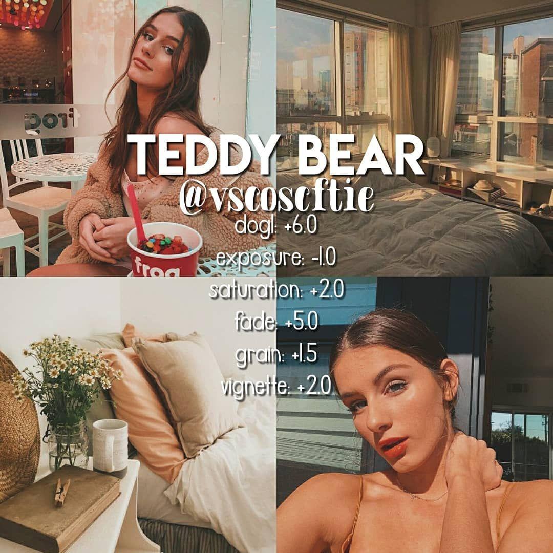 """vsco filters on Instagram: """"teddy bear"""