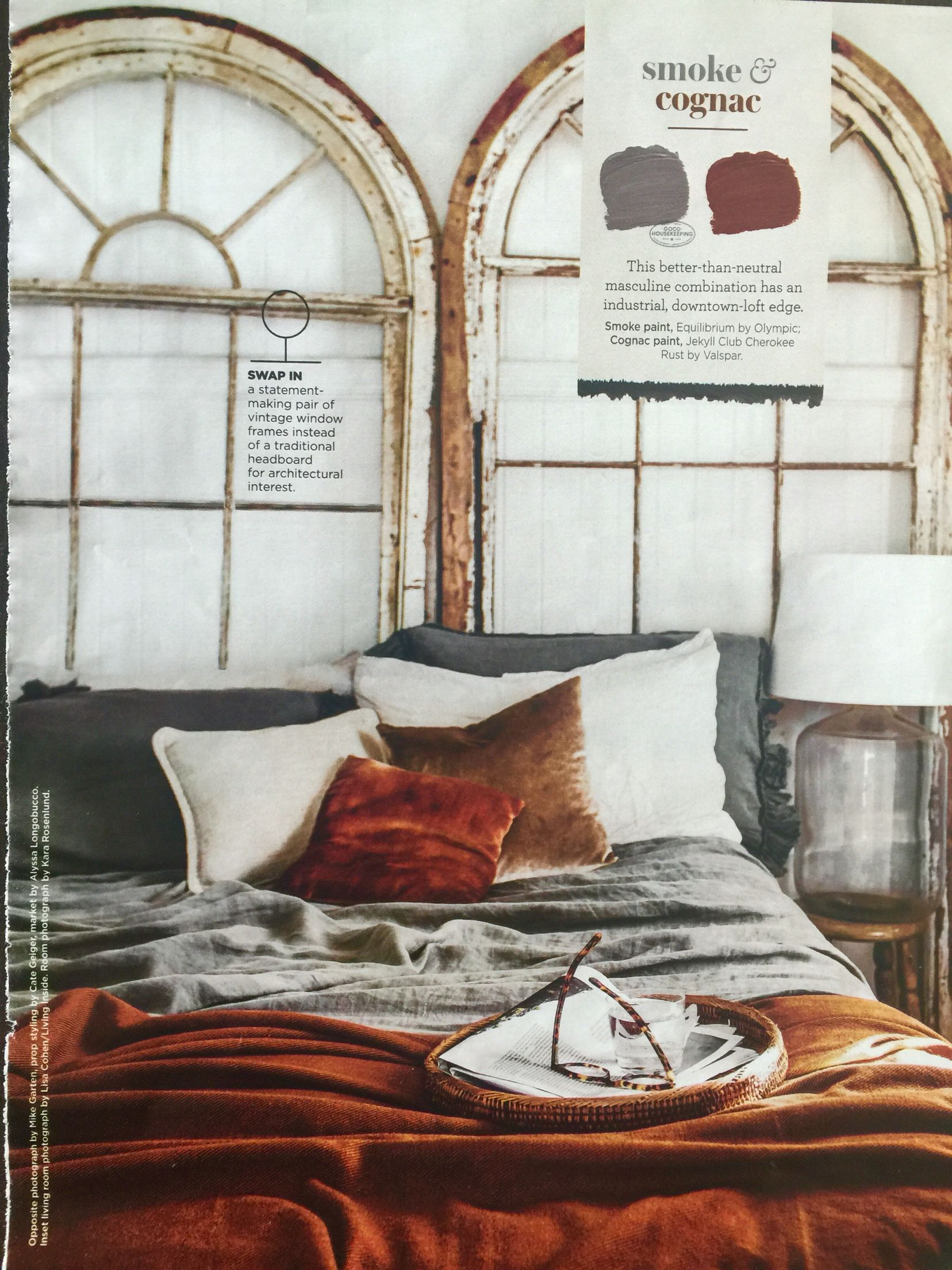 Color Combo Smoke And Cognac Source Good Housekeeping Magazine June