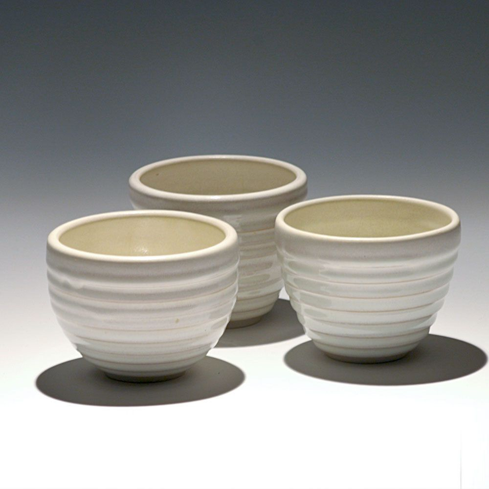 Set of 3 Small White Cups. $32.00 - Taylor Made Pottery