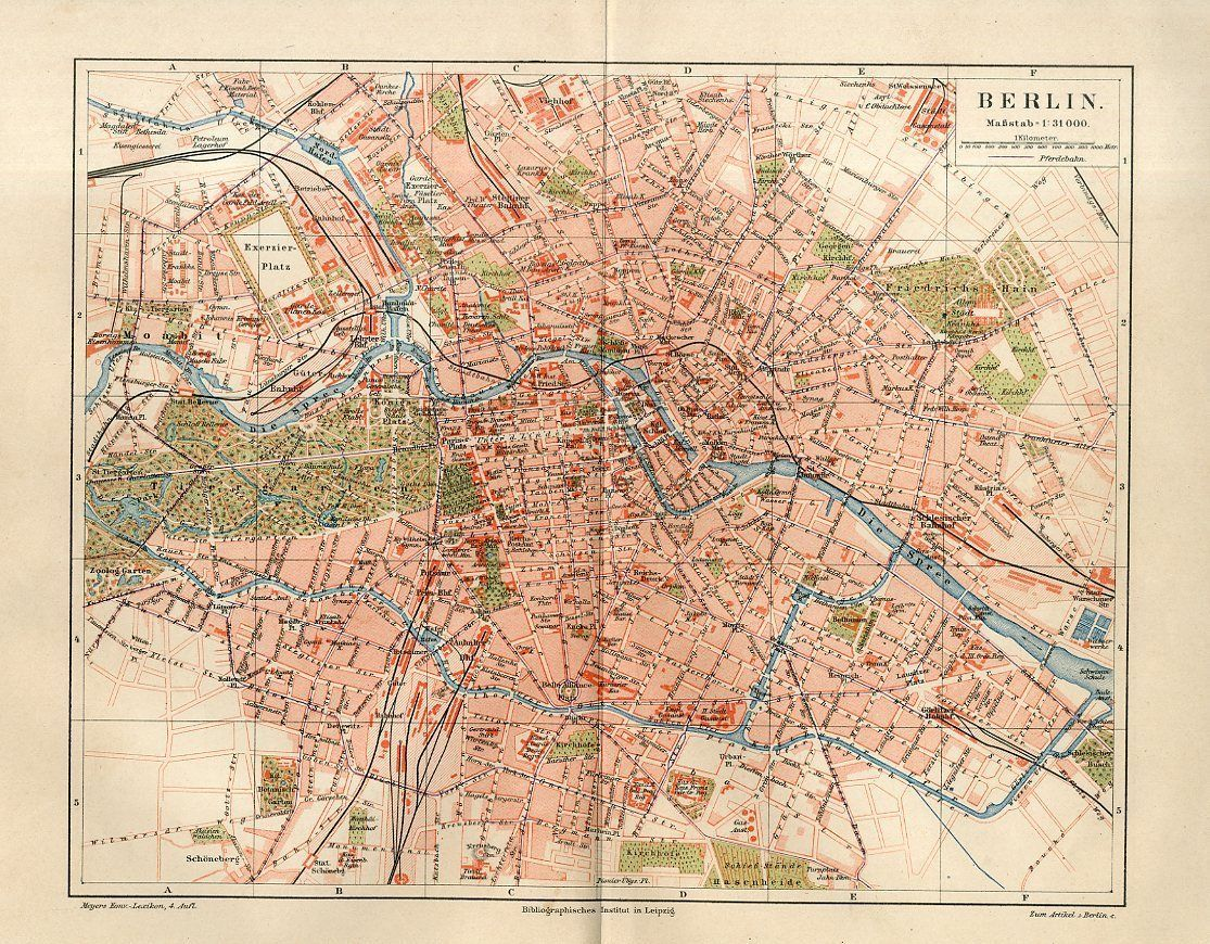 1886 germany berlin city plan antique map ebay berlin vintage pinterest berlin city and. Black Bedroom Furniture Sets. Home Design Ideas