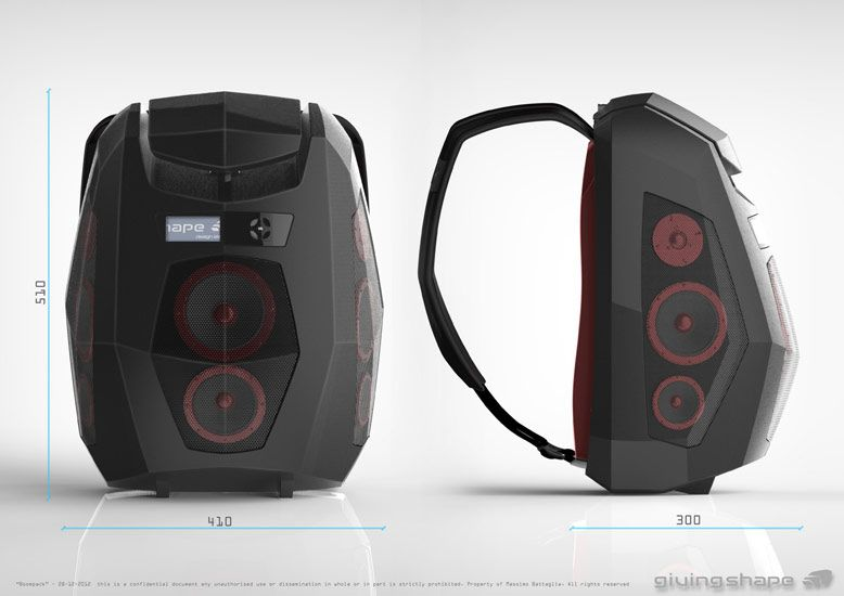 Speaker Backpack Allows You To Take The Party With You Ghetto Blaster Boombox Bags