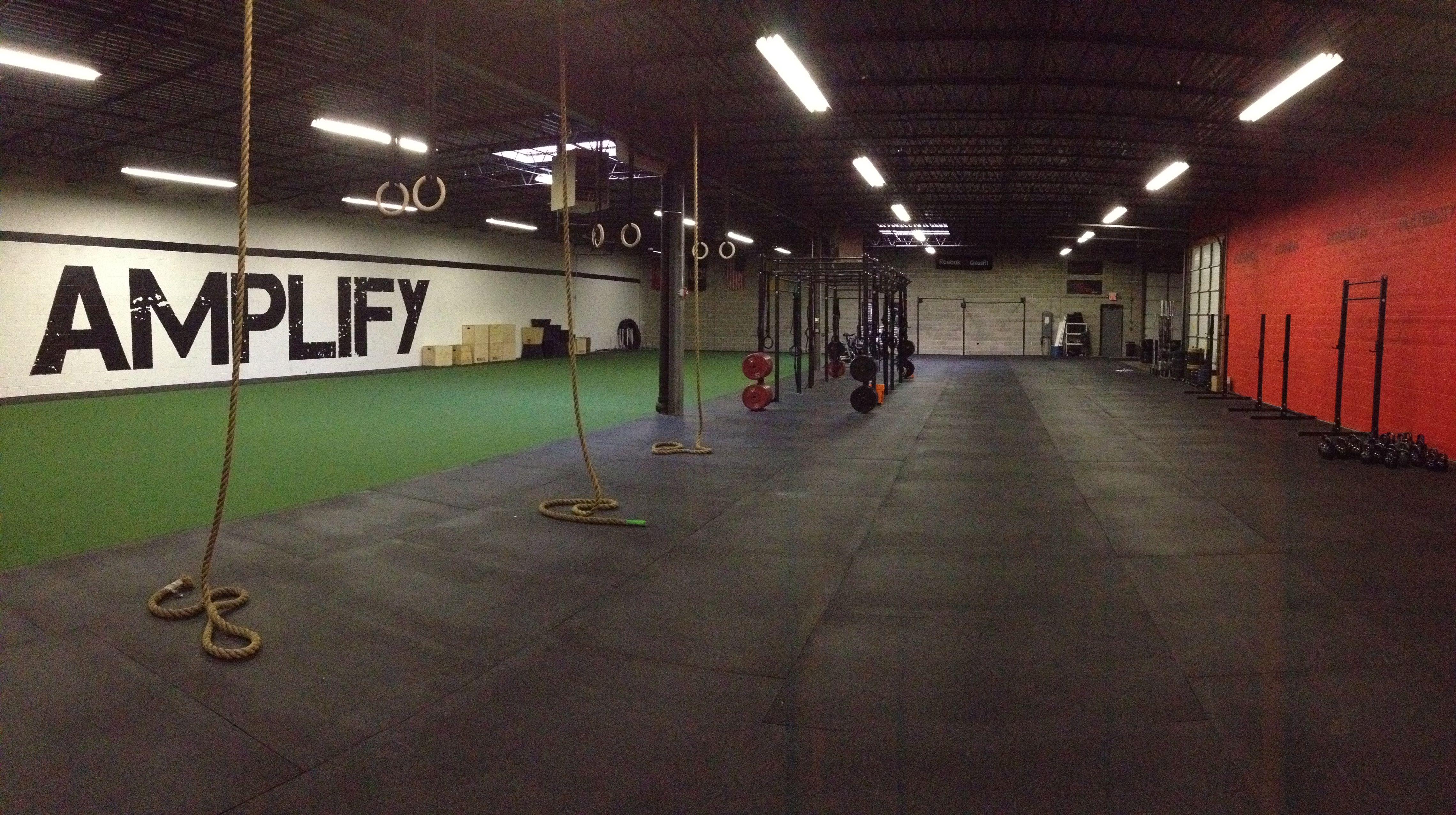 My Box Crossfitamplify Crossfit Community Gym Decor Crossfit Gym Gym Interior