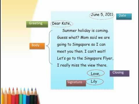 Friendly Letter Video  Writing    Friendly Letter